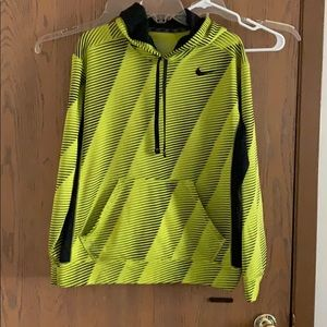 Men's Nike Therma-Fit hoodie yellow black size M